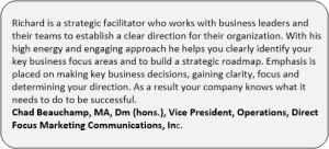 Direct Marketing Chad Beauchamp Vice President